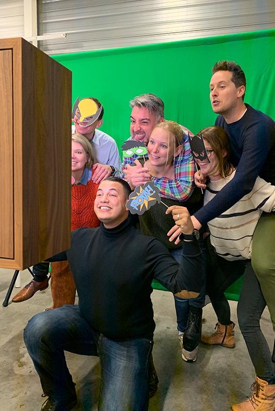 greenscreen photobooth superhero