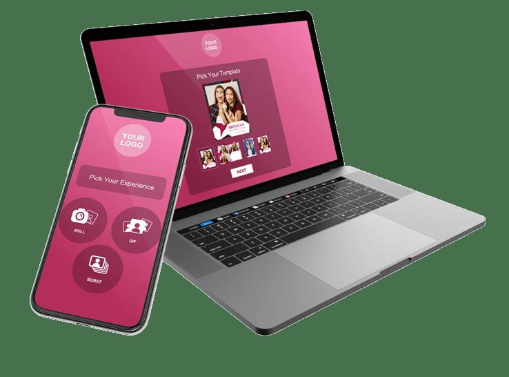 digitale photobooth voor virtuele evenementen